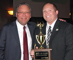 2015 Best in Class Award, Commerce Bank. Michael Stephan (HOIUW) and James Weekley (Commerce Bank)