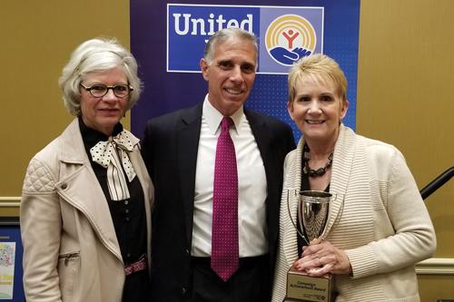 2017 Campaign Chairs Bill & Rebecca Pape with Chris Hardine of Vonachen Services.