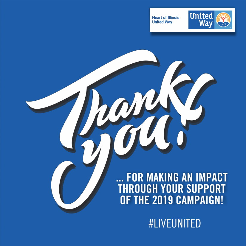 """""""We want to thank our amazing volunteers and donors.  Without them we could not invest in, nor support, the critical needs of our community through our grant allocation process. We sincerely appreciate the generosity and support of central Illinois,"""" Zammuto added."""