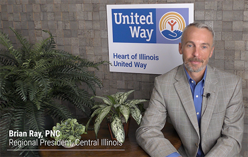 Tune in for a special message from Heart of Illinois United Way President, Jennifer Zammuto and 2021 Campaign Chair, Brian Ray, PNC Bank's Regional President for Central Illinois as we kickoff our fall campaign.