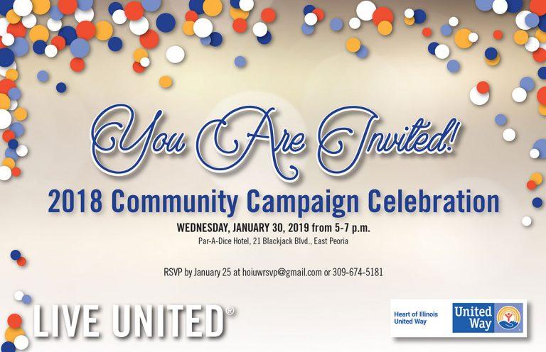 Heart of Illinois United Way Community Campaign Celebration January 30, 2019