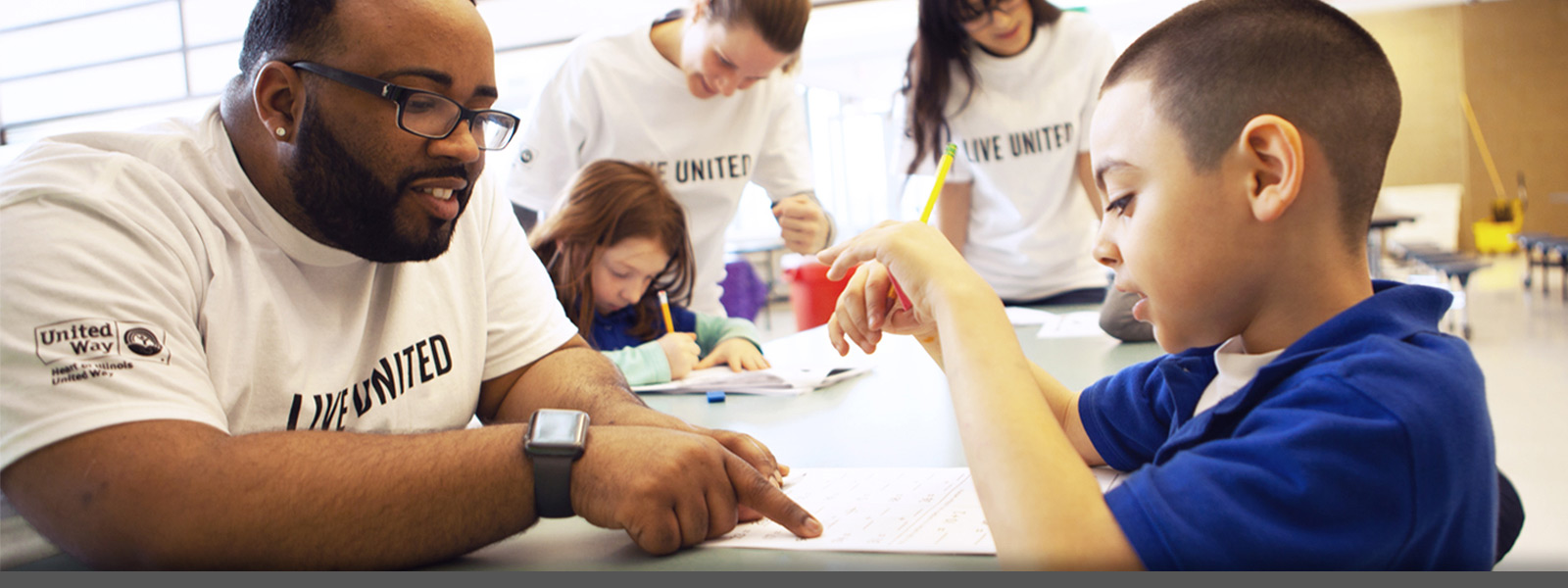 The Heart of Illinois United Way - our work in education helps to ensure that our children are ready to succeed when they enter kindergarten and people of all ages are prepared for work, postsecondary education and life.