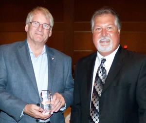 Mike Everett, the 2016 Hoot Gibson Honoree, with Tim Neuhauser