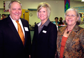 Doug Stewart and Kim Dixon, PNC Bank and Pam Tomka, Success By 6® Chair