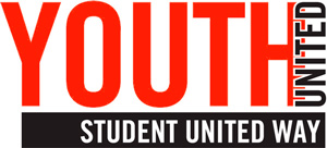 logo for YOUTH UNITED: Student United Way for Central Illinois equips area students with the education, awareness and experience to more effectively collaborate and create lasting change within the community.